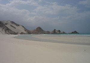 Socotra, spiaggia di Qalansia